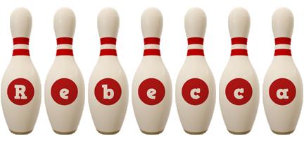 Rebecca bowling-pin logo