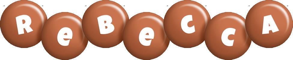 Rebecca candy-brown logo
