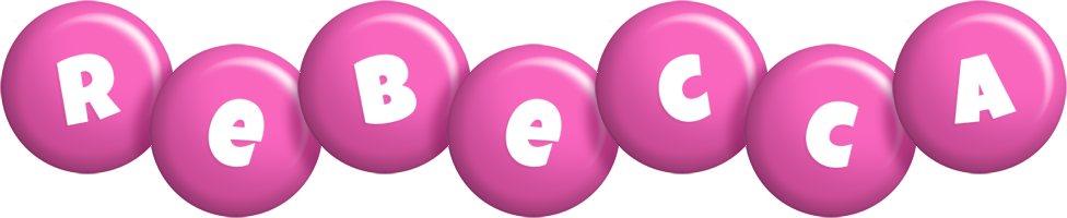 Rebecca candy-pink logo