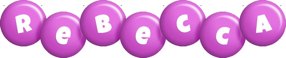 Rebecca candy-purple logo