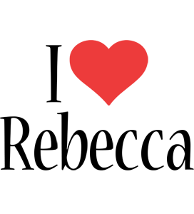 Rebecca i-love logo