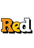 Red cartoon logo