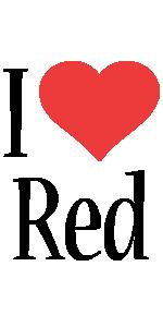 Red i-love logo