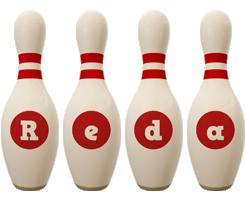 Reda bowling-pin logo