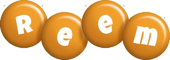 Reem candy-orange logo