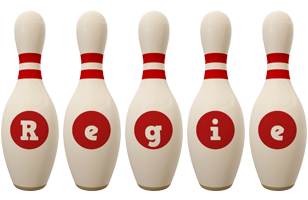 Regie bowling-pin logo
