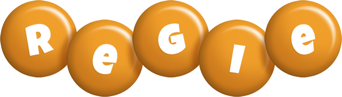 Regie candy-orange logo