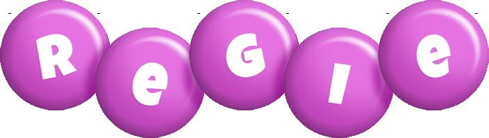 Regie candy-purple logo