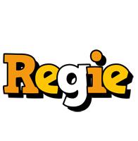 Regie cartoon logo