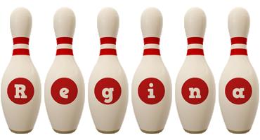 Regina bowling-pin logo