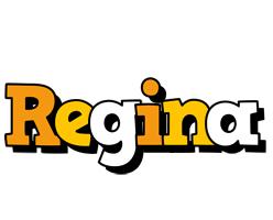 Regina cartoon logo