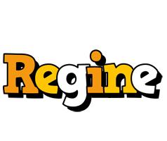 Regine cartoon logo