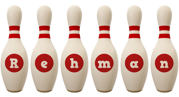 Rehman bowling-pin logo