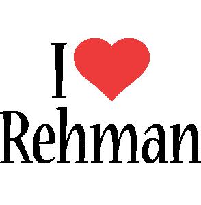 Rehman i-love logo