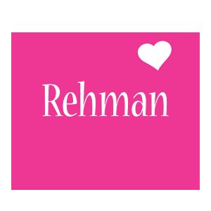 Rehman love-heart logo
