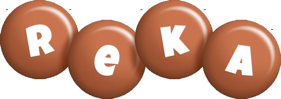 Reka candy-brown logo