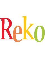 Reko birthday logo