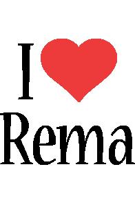 Rema i-love logo