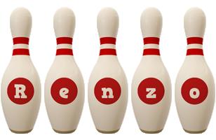 Renzo bowling-pin logo