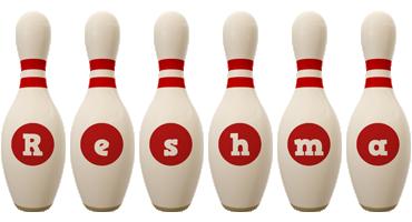 Reshma bowling-pin logo