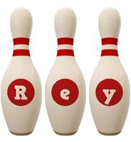 Rey bowling-pin logo