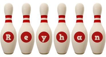 Reyhan bowling-pin logo
