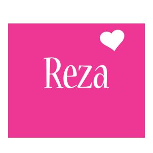 Reza love-heart logo