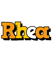 Rhea cartoon logo