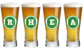 Rhea lager logo