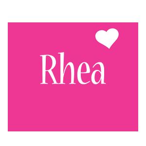 Rhea love-heart logo