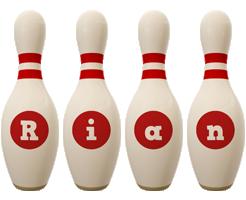 Rian bowling-pin logo