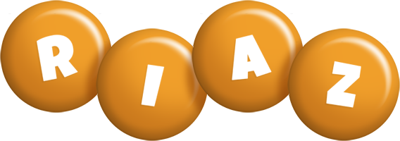 Riaz candy-orange logo