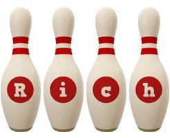 Rich bowling-pin logo