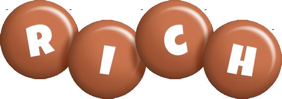 Rich candy-brown logo