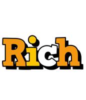 Rich cartoon logo