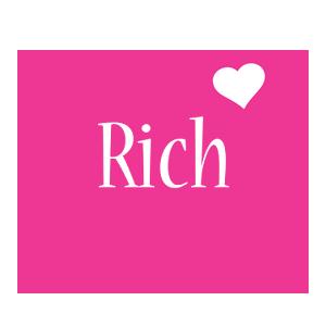 Rich love-heart logo
