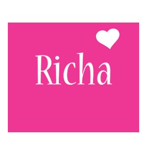 Richa love-heart logo