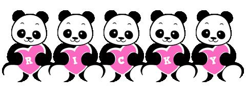 Ricky love-panda logo
