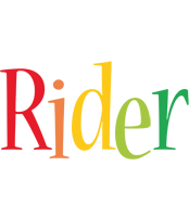 Rider birthday logo