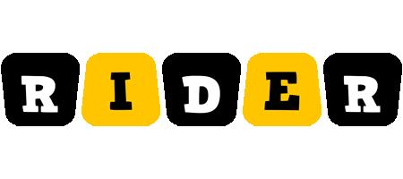 Rider boots logo