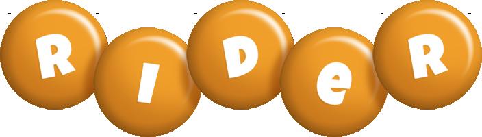 Rider candy-orange logo