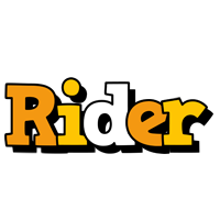 Rider cartoon logo
