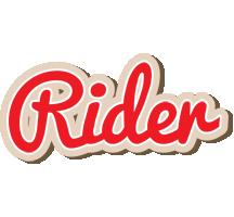 Rider chocolate logo