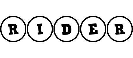 Rider handy logo
