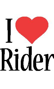 Rider i-love logo
