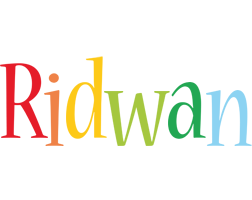 Ridwan birthday logo
