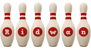 Ridwan bowling-pin logo