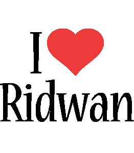 Ridwan i-love logo