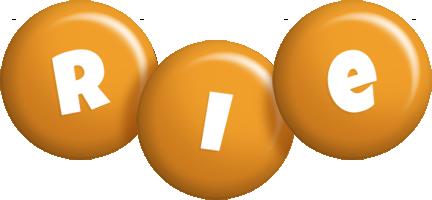 Rie candy-orange logo