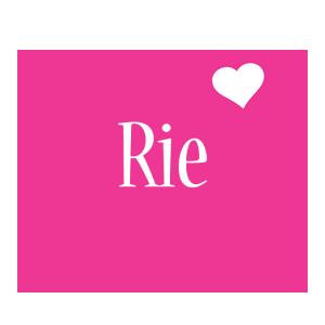 Rie love-heart logo